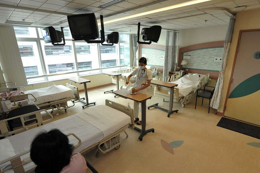 General shots at Changi General Hospital.