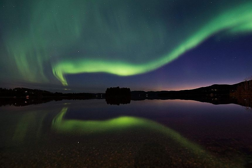 The Aurora Borealis, or Northern Lights, illuminating the night sky in Vaesternorrland county, Sweden, in August. The spike in demand for bookings to the Nordic countries follows reports that this is the last year to catch the Northern Lights for a w