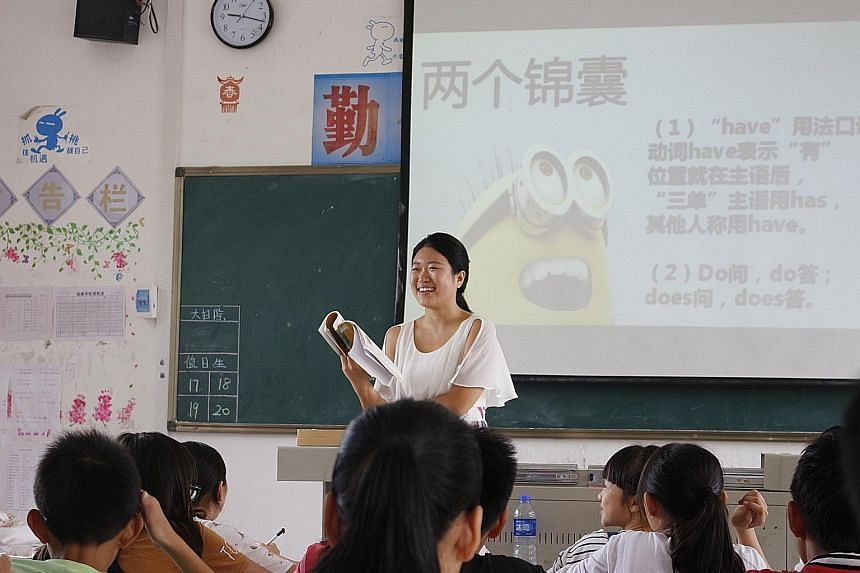 Ms Zhang, who is a history graduate, joined a two-year volunteer programme to teach at a rural school in Guangdong.