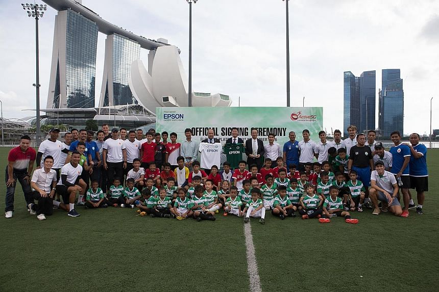 S-League football club Geylang International yesterday signed a memorandum of understanding at the Marina Bay Floating Platform with Matsumoto Yamaga, who currently play in Japan's second-tier football league. The partnership, made possible by Epson,