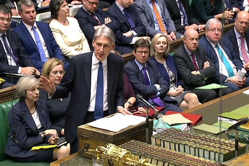 Britain will cut its corporate tax rate to 17 per cent, Mr Hammond said in the government's first Budget statement since the Brexit vote. He also raised Britain's minimum wage level and hiked tax thresholds.