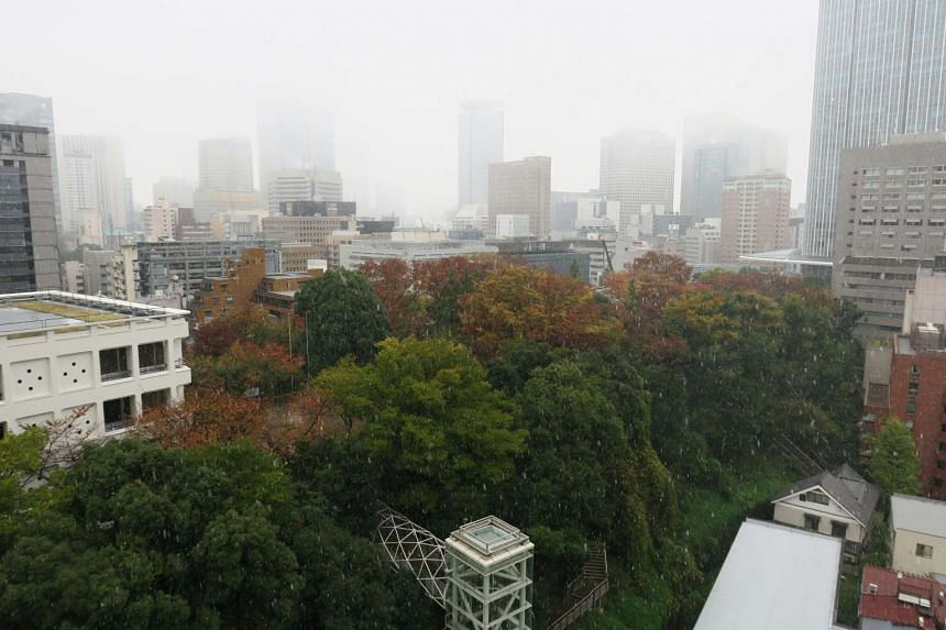 Tokyo records first ever snowfall in November in 54 years.
