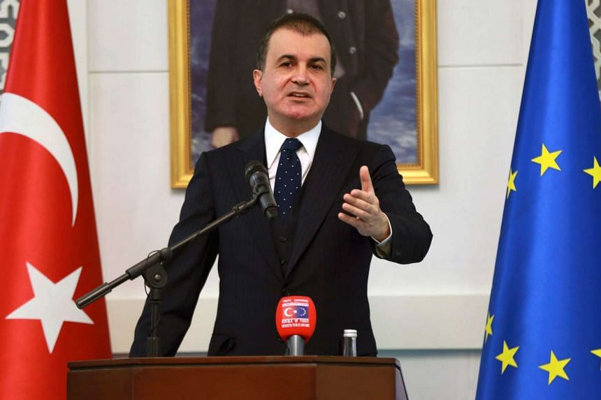 """Turkey's EU Minister Omer Celik on Thursday (Nov 24) dismissed a European Parliament vote in favour of freezing accession talks with Ankara as """"null and void""""."""
