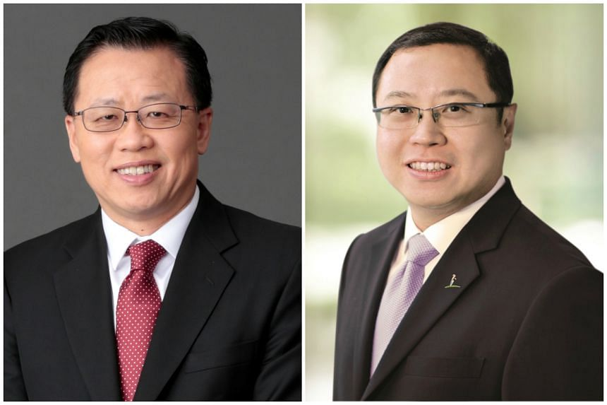 Mr Mark Chong (left) will be appointed group chief technology officer of Singtel, while Mr Arthur Lang will be appointed chief executive officer International.