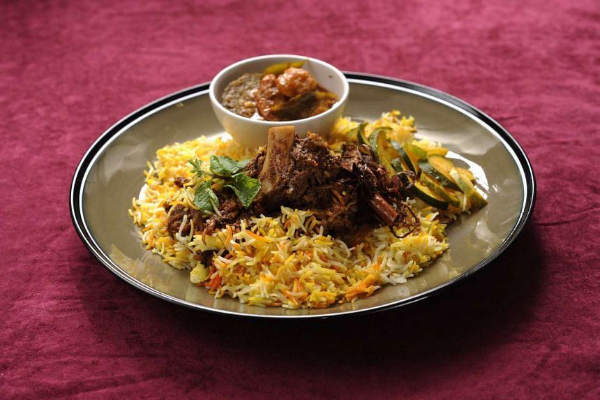 The dishes Shashlik and Islamic restaurants are known for – Beef Shashlik and biryani – respectively.