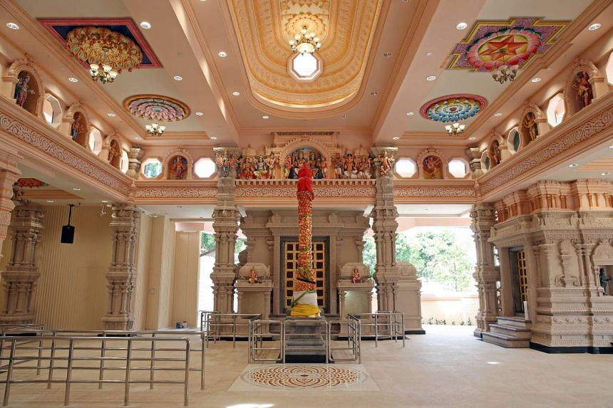 Above: The redesigned Sri Siva Durga temple can now host about 500 worshippers.