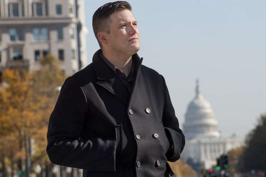 """Mr Richard Spencer is the face of the """"alt-right"""", labelled as a white supremacist movement by bodies such as the Soufan Group. On Sunday, he took part in a party at a Washington DC restaurant, which drew outrage over its participants' actions"""