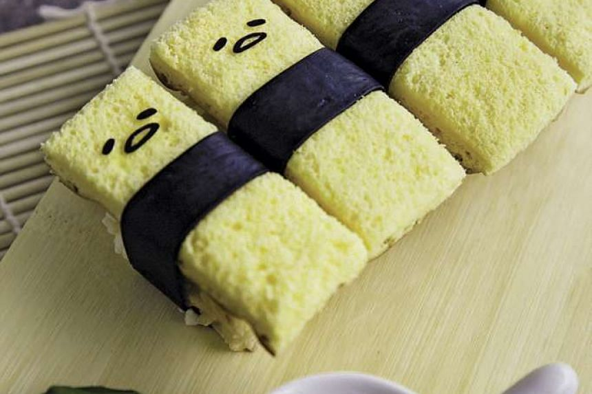 Tamago sushi at the Gudetama-themed cafe, will be opened by the end of November.