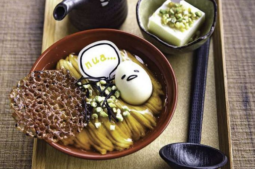 Shoyu ramen set at the Gudetama-themed cafe, which will be opened by the end of November.