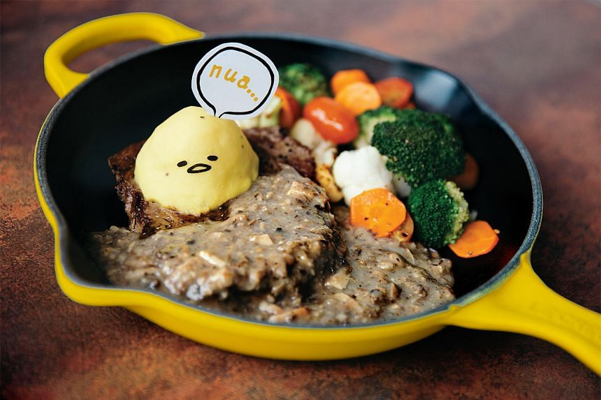 'I Don't Care' Rib set at the Gudetama-themed cafe, which will be opened by the end of November.