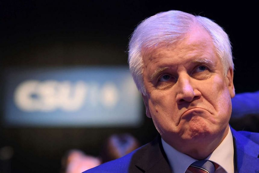Seehofer (above) suggested Trump could attend Munich's annual international security conference in February.