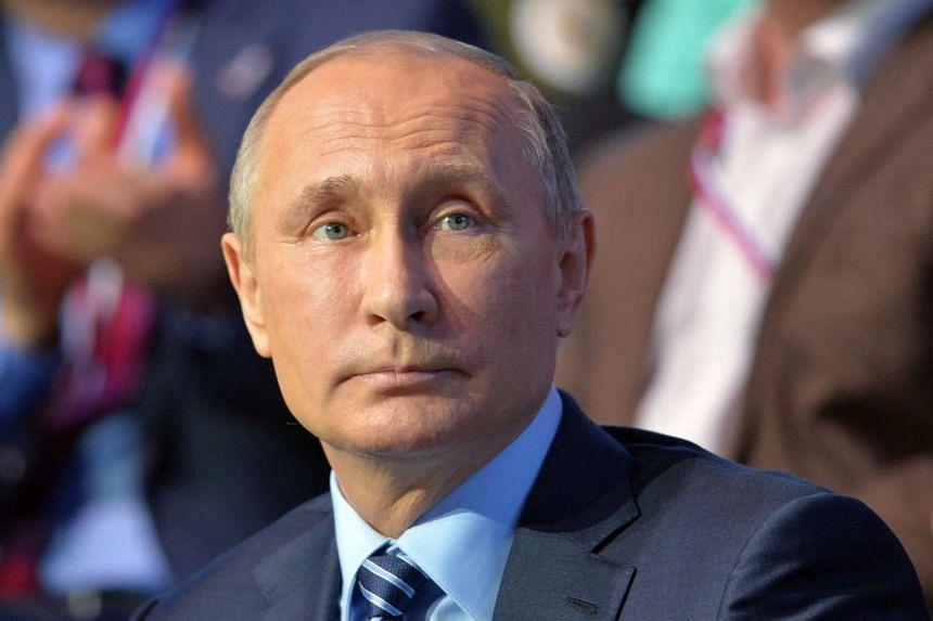 """Putin (above) hopes he will have the """"same constructive dialogue"""" as with Guterres' predecessor Ban Ki-moon."""