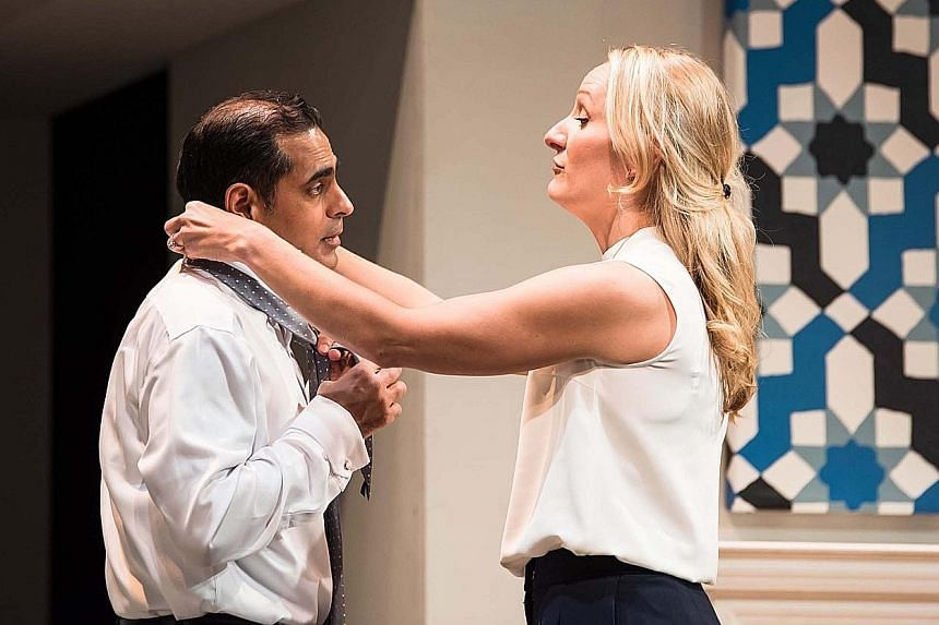 Gaurav Kripalani and Jennifer Coombs play husband and wife in Disgraced.