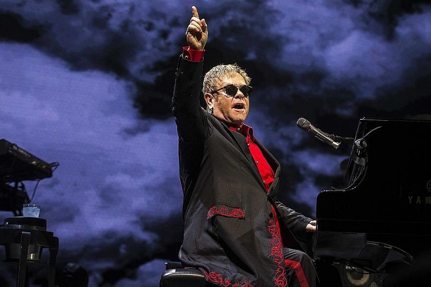 British singer- songwriter and composer, Sir Elton John (above), has been an outspoken critic of Mr Donald Trump.