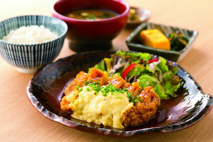 Chicken Namban Teishoku at Yayoi restaurant, which won the RAS Epicurean Star Award's new category, Best Japanese Restaurant (Chain).