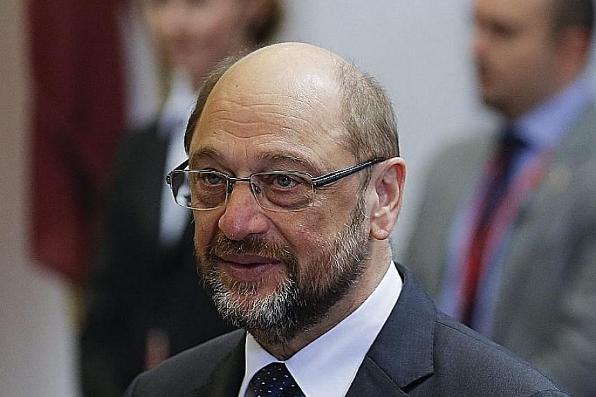 Mr Schulz did not comment on whether he would challenge Dr Merkel in September's election.