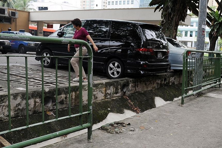 The scene of the accident in Whampoa Road in 2011, when a taxi crashed into a railing that then fell onto the boy, then aged seven. He sustained head injuries which affected his cognitive ability, impairing his IQ, memory and verbal skills.