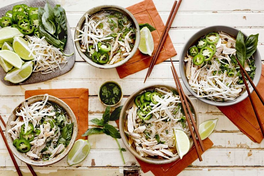 Turkey pho is a take on the classic Vietnamese chicken pho.