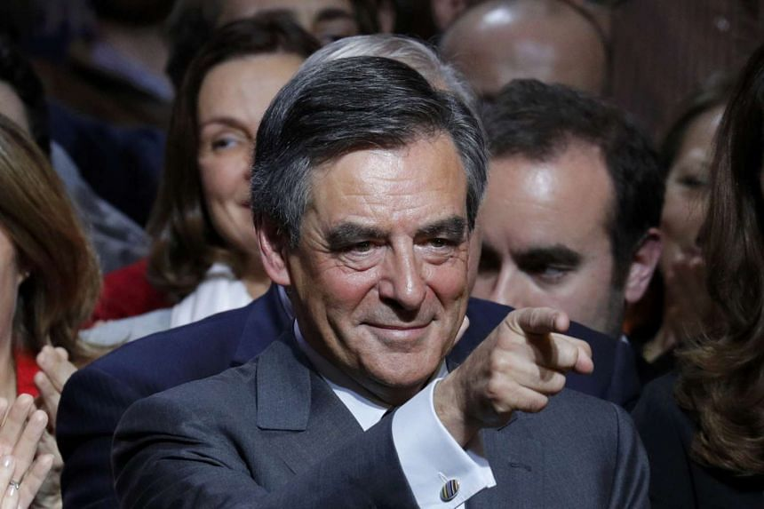 Francois Fillon attends a rally as he campaigns in Paris, on Nov 25, 2016.