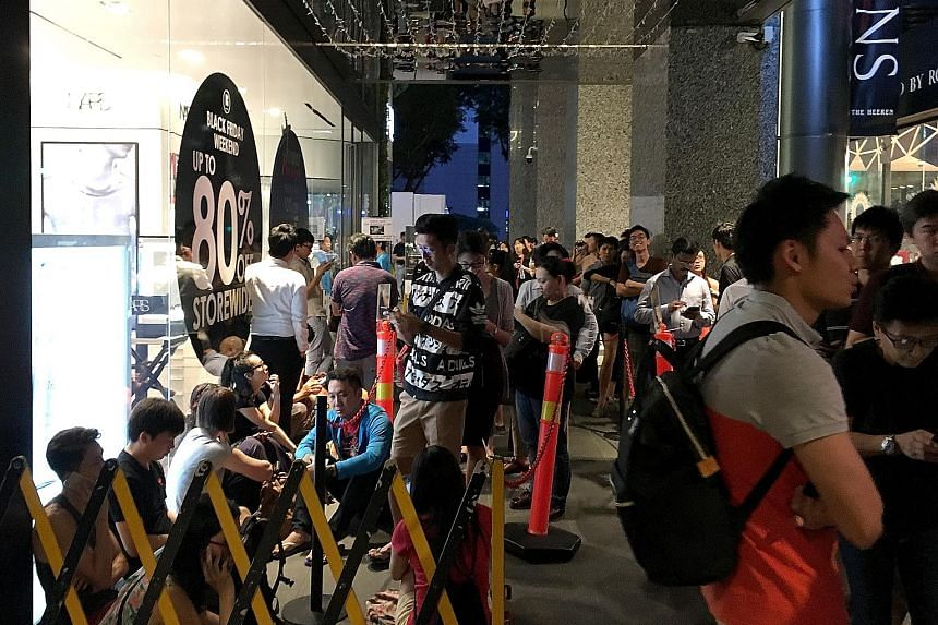 Long queues formed outside Robinsons The Heeren as early as 6am yesterday, as eager shoppers awaited the start of the department store's Black Friday sale. The retailer had slashed prices by up to 80 per cent. For the first time since 2014, when it f