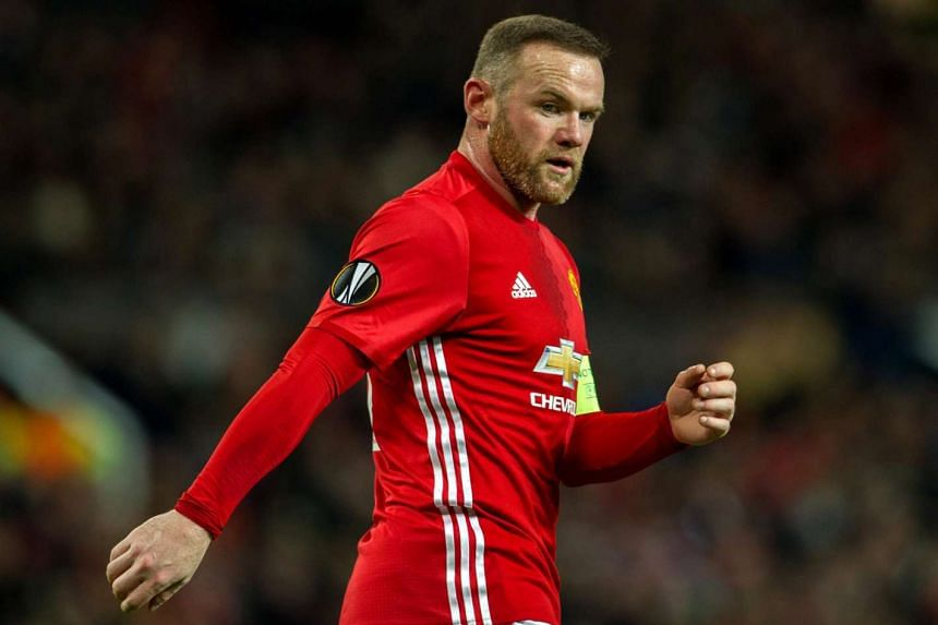 Manchester United's Wayne Rooney reacts during a match between Manchester United and Feyenoord on Nov 24, 2016.