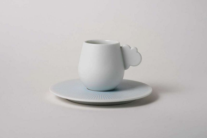 Cloud espresso cup and saucer