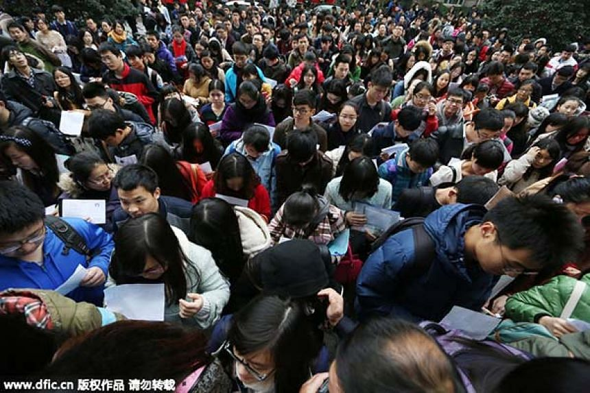 China S Civil Service Exam Can You Answer These Questions East Asia News Top Stories The Straits Times