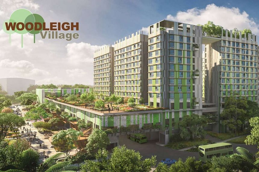 Artist's impression of Woodleigh Village at the new housing estate Bidadari, which comes under Toa Payoh town.