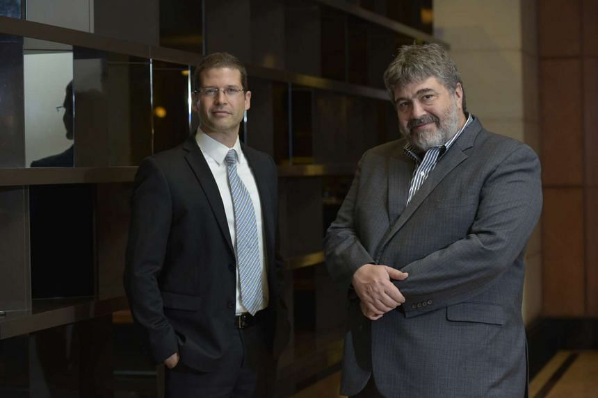 Crowdfunding platform OurCrowd opened its new office in Singapore on Nov 28, 2016. Mr Denes Ban (left) is partner and managing director of Asia, and Mr Jonathan Medved (right) is founder and chief executive.