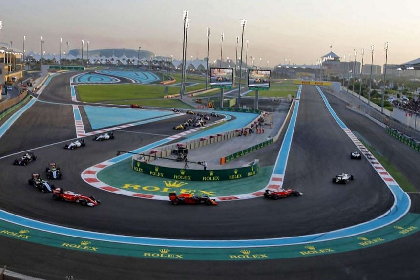 Drivers compete in the Abu Dhabi Formula One Grand Prix at the Yas Marina circuit on Nov 27, 2016.