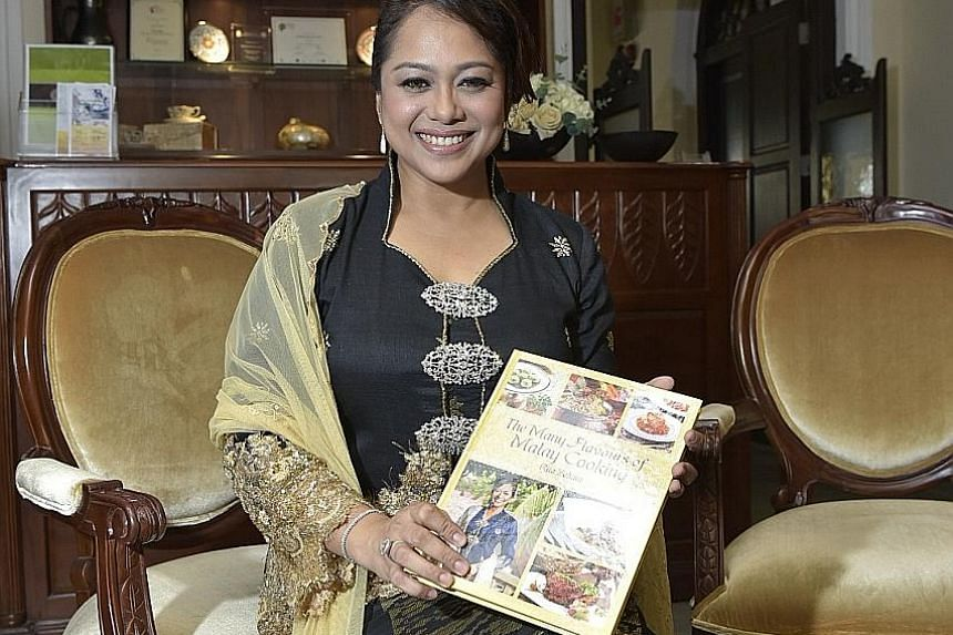 The recipes in Ms Rita's cookbook include favourites like sambal prawns and come from her family as well as contributors and established restaurants.