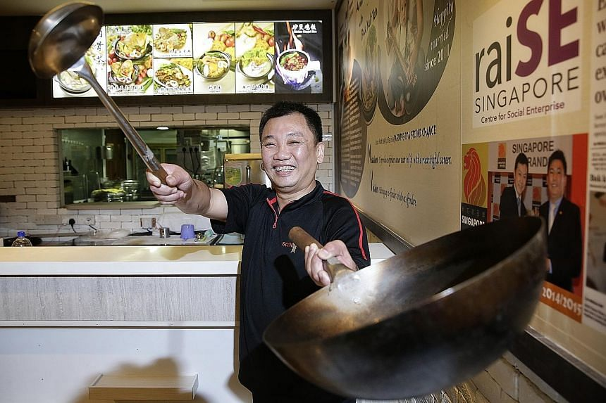 Mr Giam was able to make a fresh start with the help of social enterprise and eatery Soon Huat Bak Kut Teh, which hires ex-convicts.
