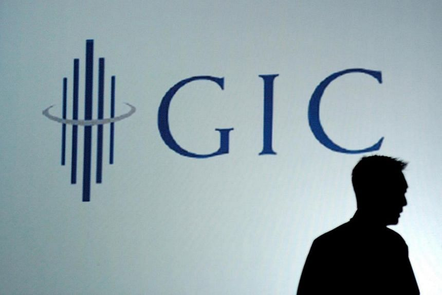 The GIC corporate logo seen at the GIC Staff Conference in Singapore.