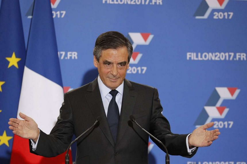 Francois Fillon speaks after partial results in the second round for the French centre-right presidential primary election in Paris on Nov 27, 2016.