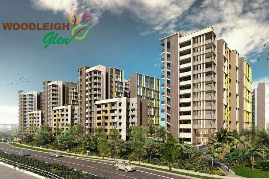 Artist's impression of Woodleigh Glen at the new housing estate Bidadari, which comes under Toa Payoh town.