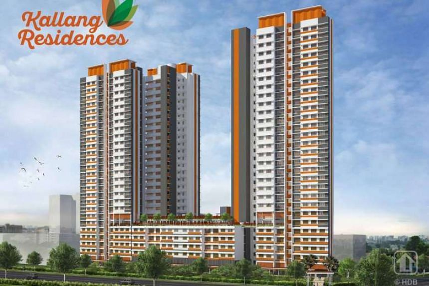 Artist's impression of Kallang Residences. As of 5pm on Monday (Nov 28), there were almost 11 applicants vying for each of the 158 four-roomers for the Build-To-Order project.