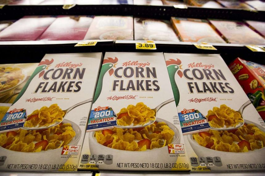 Kellogg's Corn Flakes cereal at a grocery store in Pasadena, California.