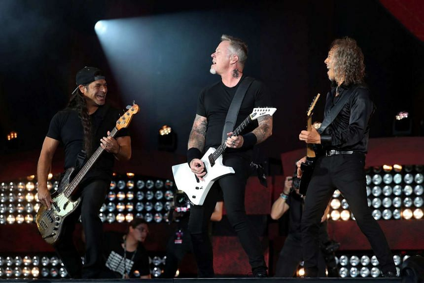 Metallica performing at the Global Citizen Festival at Central Park in Manhattan, New York, US, on Sept 24, 2016.
