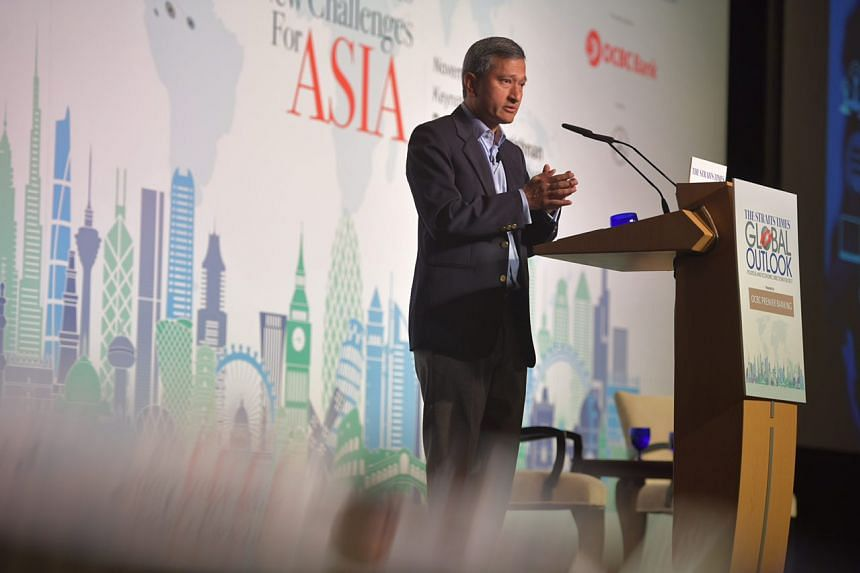 The Republic will also continue to emphasise Asean centrality and unity, said Dr Vivian Balakrishnan at The Straits Times Global Outlook Forum.