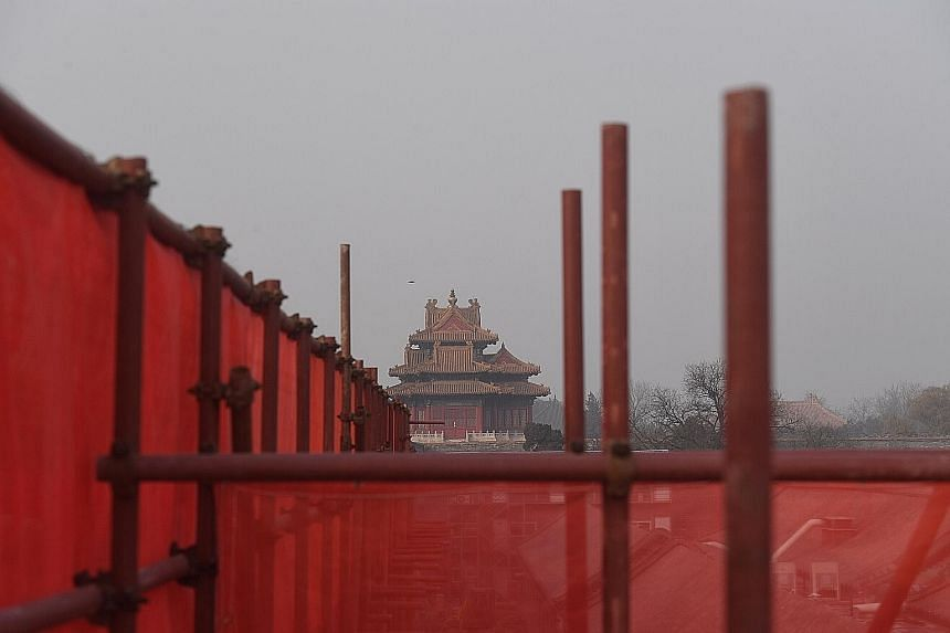 The authorities in Beijing have launched a major restoration project to keep the walls of the Forbidden City from collapsing.