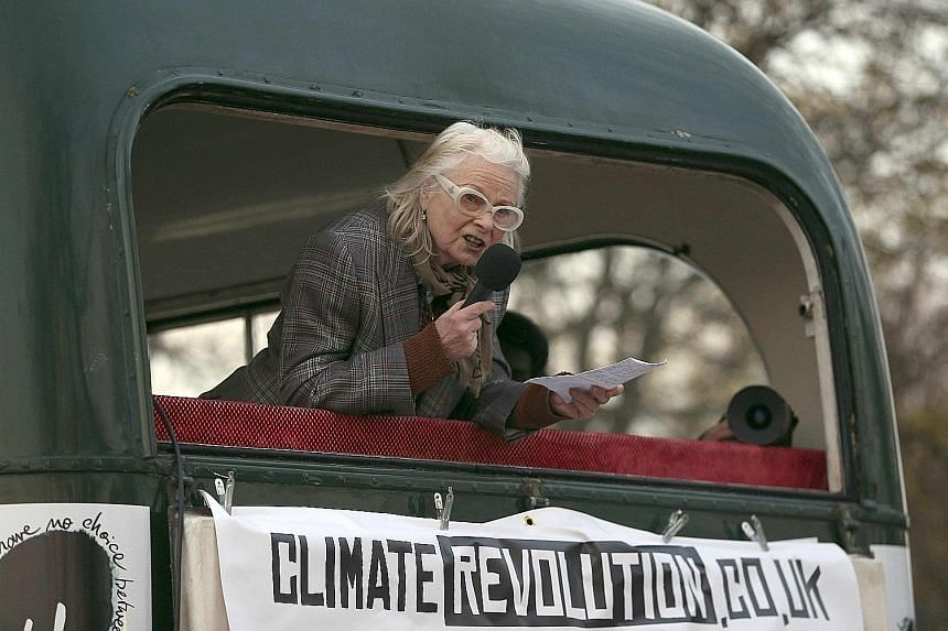 Agent Provocateur founder Joe Corre set fire to what he said was $8.9 million of punk memorabilia as well as human effigies to protest against Punk London, while his mother, fashion designer Vivienne Westwood (above), called for the crowd to support green