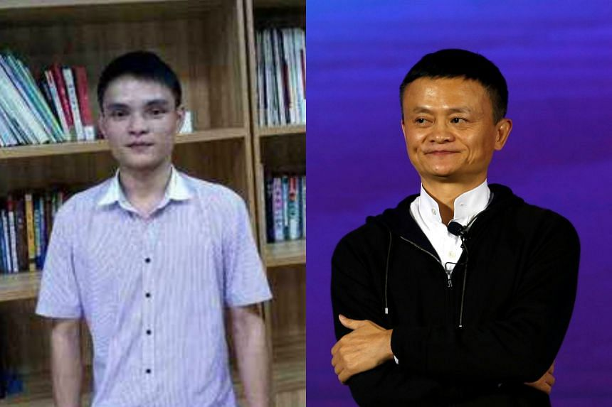 Shenzhen native Huang Jian's (left) dream is to look like Alibaba founder Jack Ma.