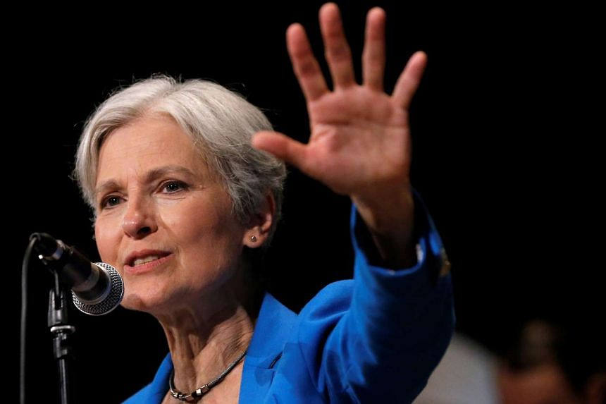 Green Party presidential candidate Jill Stein speaking at a campaign rally in Chicago, Illinois, US, on Sept 8, 2016.