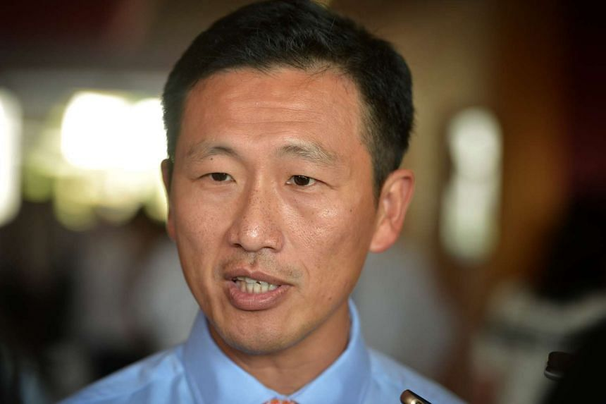 Minister for Education (Higher Education and Skills) Ong Ye Kung speaking to the media at Ngee Ann Polytechnic on Jan 13.
