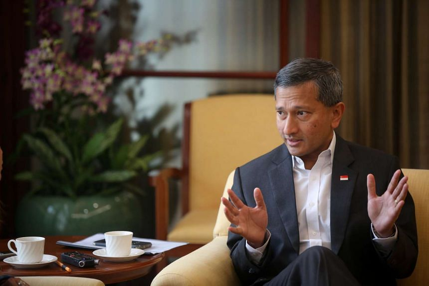 Leading off the ST Global Outlook Forum is Singapore Foreign Minister Vivian Balakrishnan.