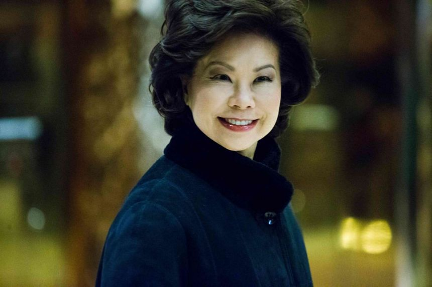 Former US Secretary of Labor Elaine Chao arrives at Trump Tower on another day of meetings scheduled with President-elect Donald Trump on Nov 21, 2016 in New York.
