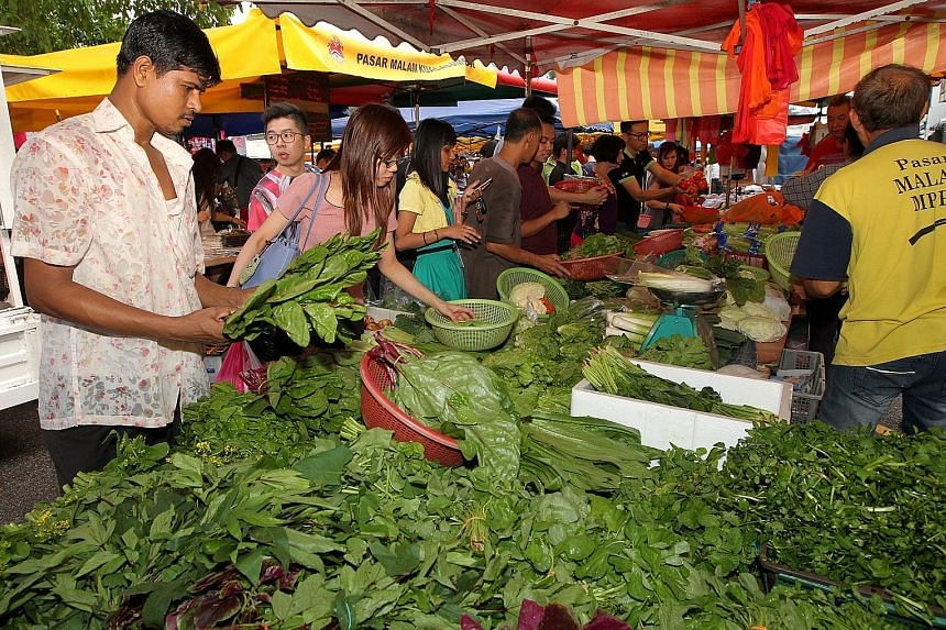 Supplies of vegetables in Malaysia, especially leafy ones, are down 20 to 30 per cent.