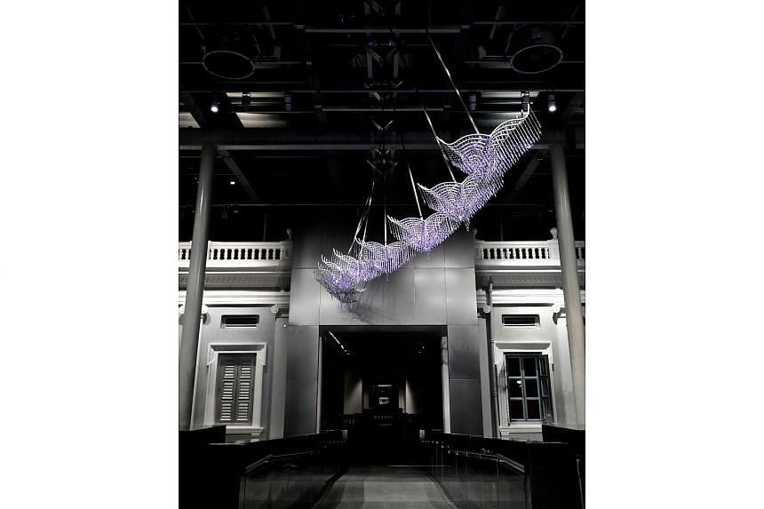 The National Museum of Singapore will unveil the new interactive kinetic installation Wings of A Rich Manoeuvre by home grown artist Suzann Victor on Dec 1, 2016.