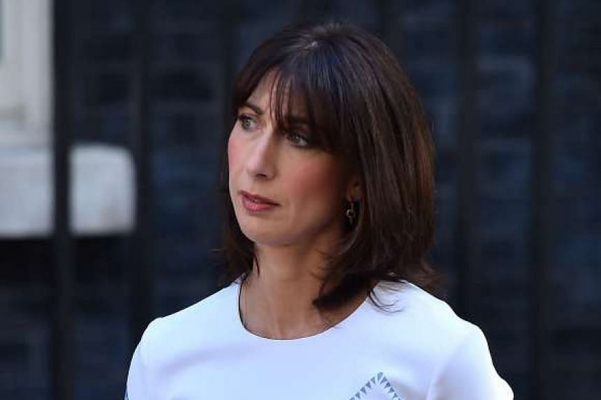 Britain's former first lady Samantha Cameron launched a fashion label nearly five months after leaving 10 Downing Street.