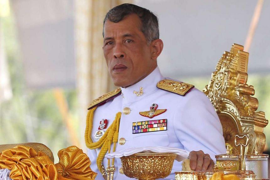 Thai Crown Prince Maha Vajiralongkorn presides over the Royal Ploughing ceremony at Sanam Luang in Bangkok, Thailand on May 9, 2016.